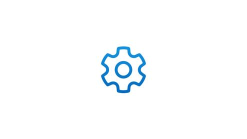 A gear icon