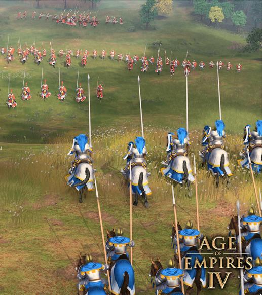 Age of Empires IV video oyunu savaş sahnesi