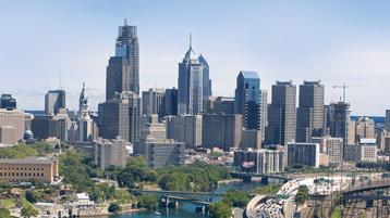 A city skyline