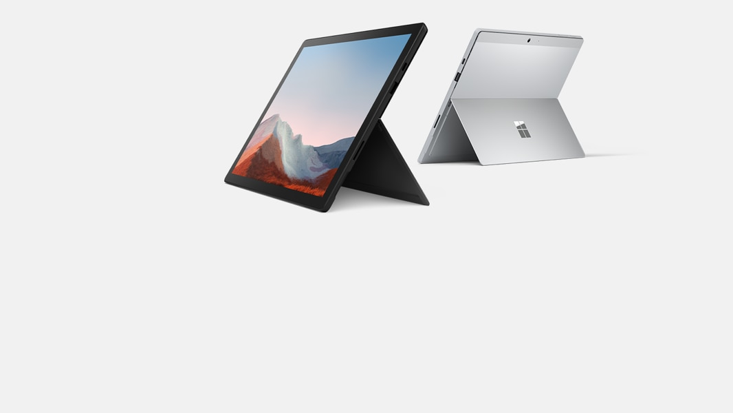 Surface Pro 7 in black.