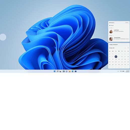 Windows 11-Bildschirm mit Widgets