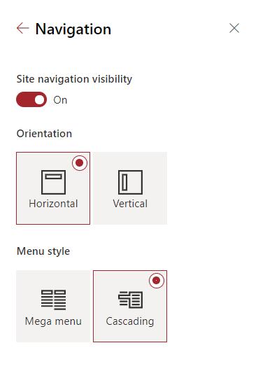 Mega menu option