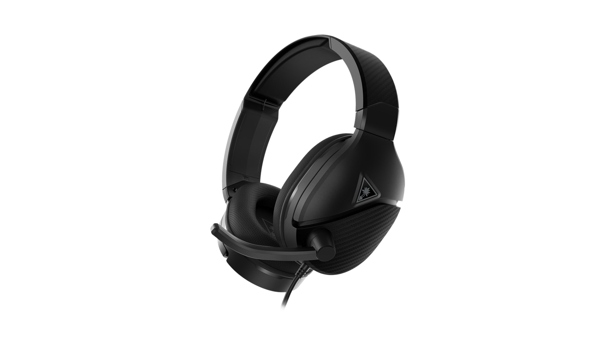 Side view of the Turtle Beach Recon 200 Gen 2 Powered Gaming Headset for Xbox Series X|S & Xbox One in black.