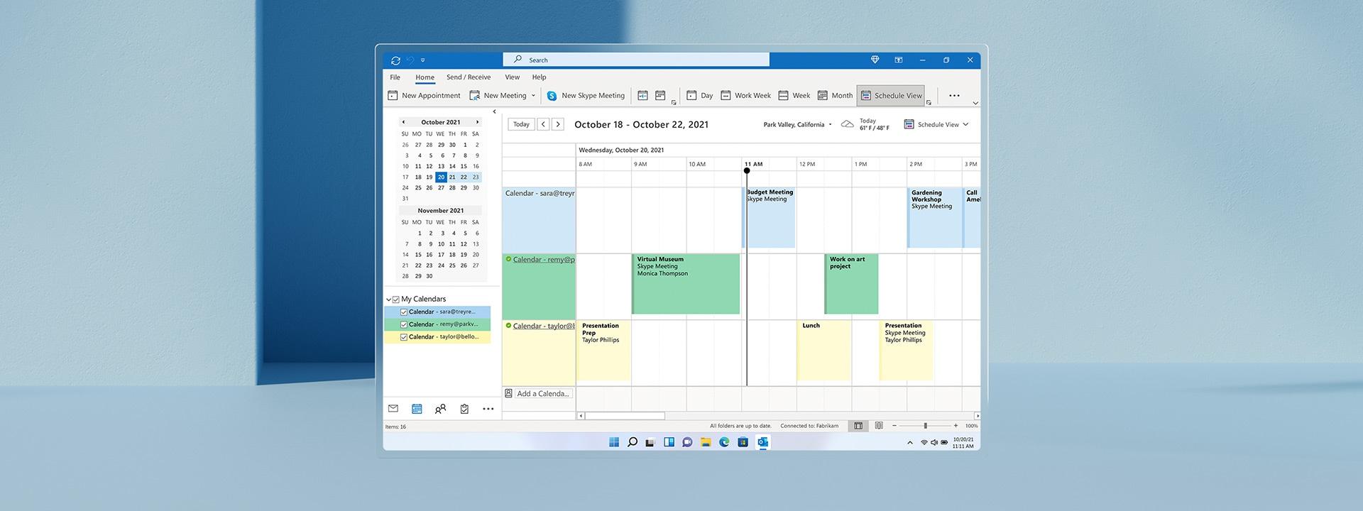 Ημερολόγιο του Microsoft Outlook