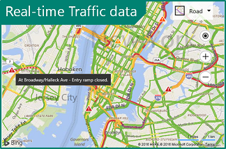 Real-time traffic image