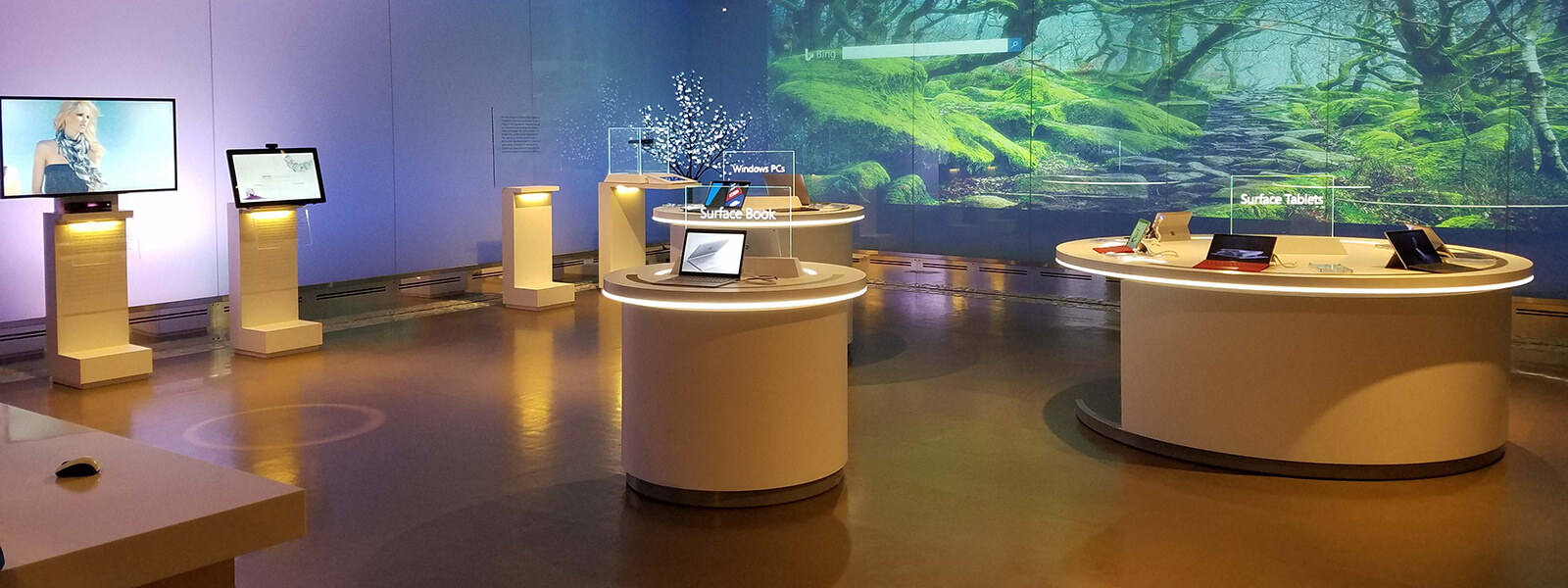 View inside of the Microsoft Visitor Center