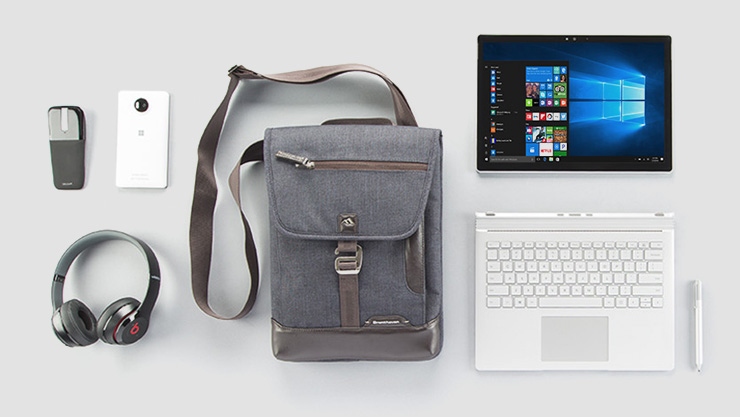 Surface Book with accessories