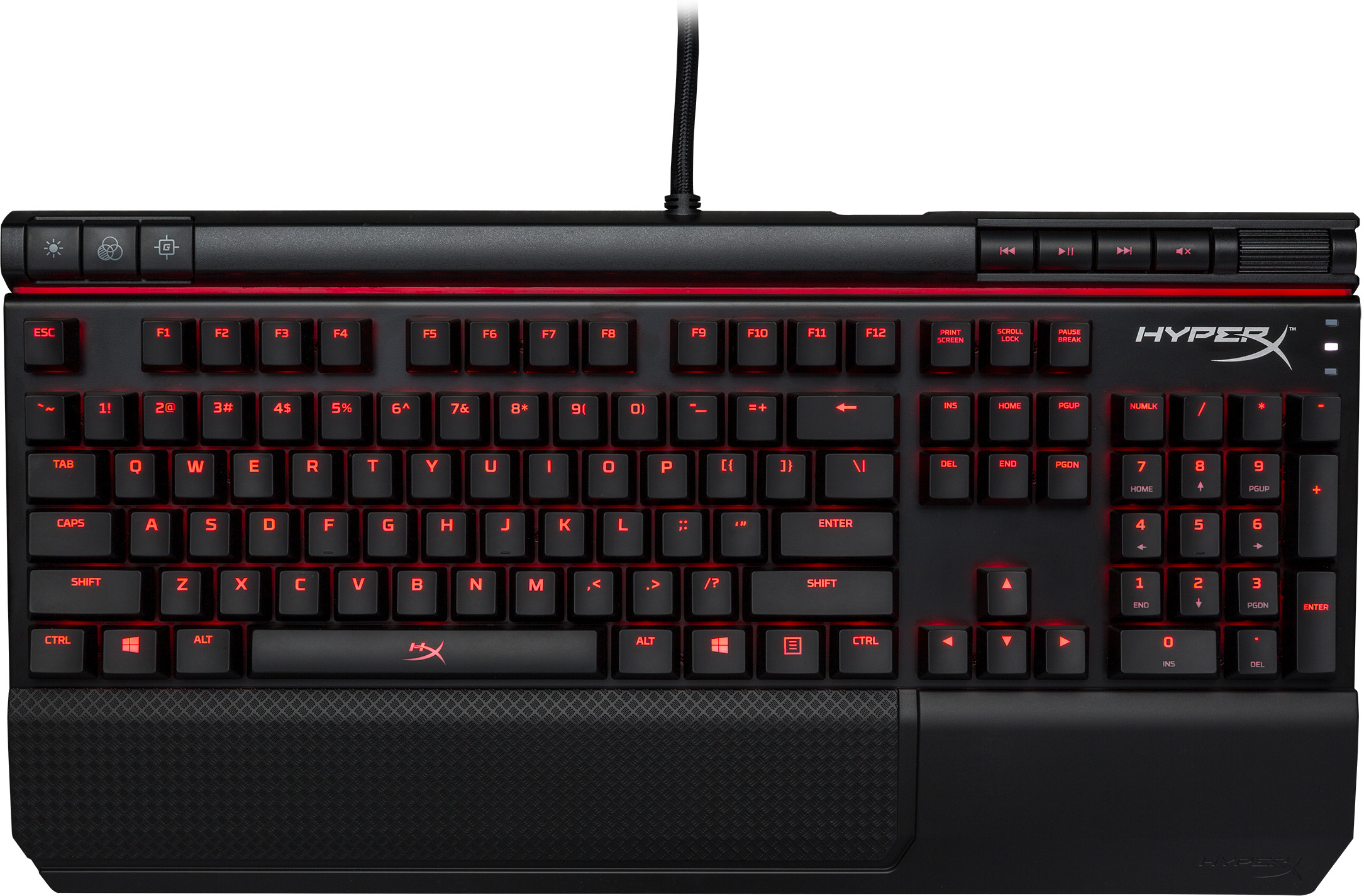 Kingston HyperX Alloy Elite Mechanical Gaming Keyboard - Cherry MX Red, Red LED