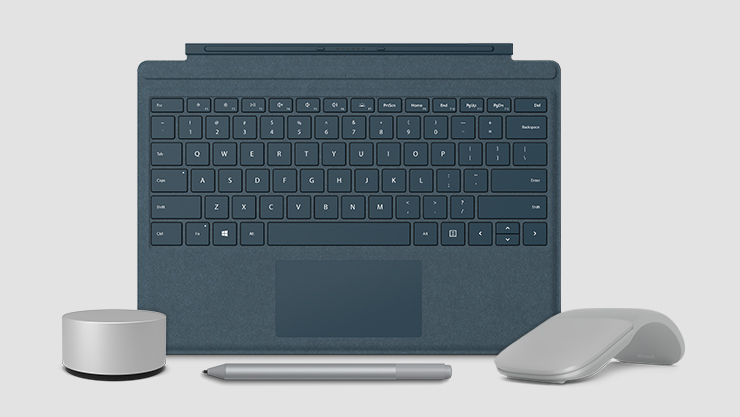 Clavier Surface Type Cover, Stylet Surface, Surface Dial et souris Surface Arc Mouse
