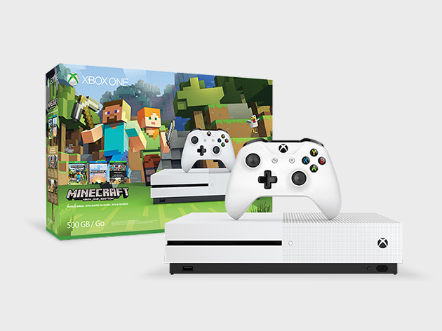 Xbox One S Minecraft Edition with console and controller