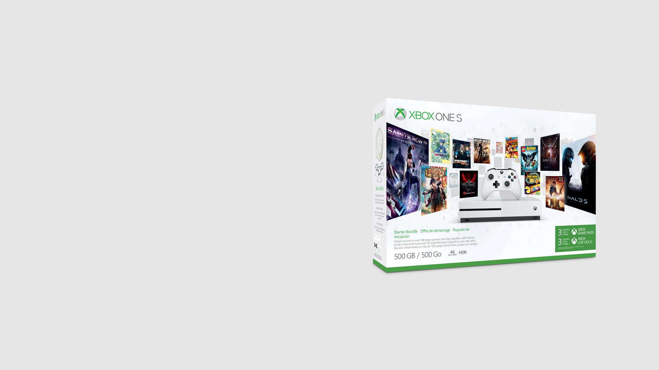 An Xbox One S Starter Bundle