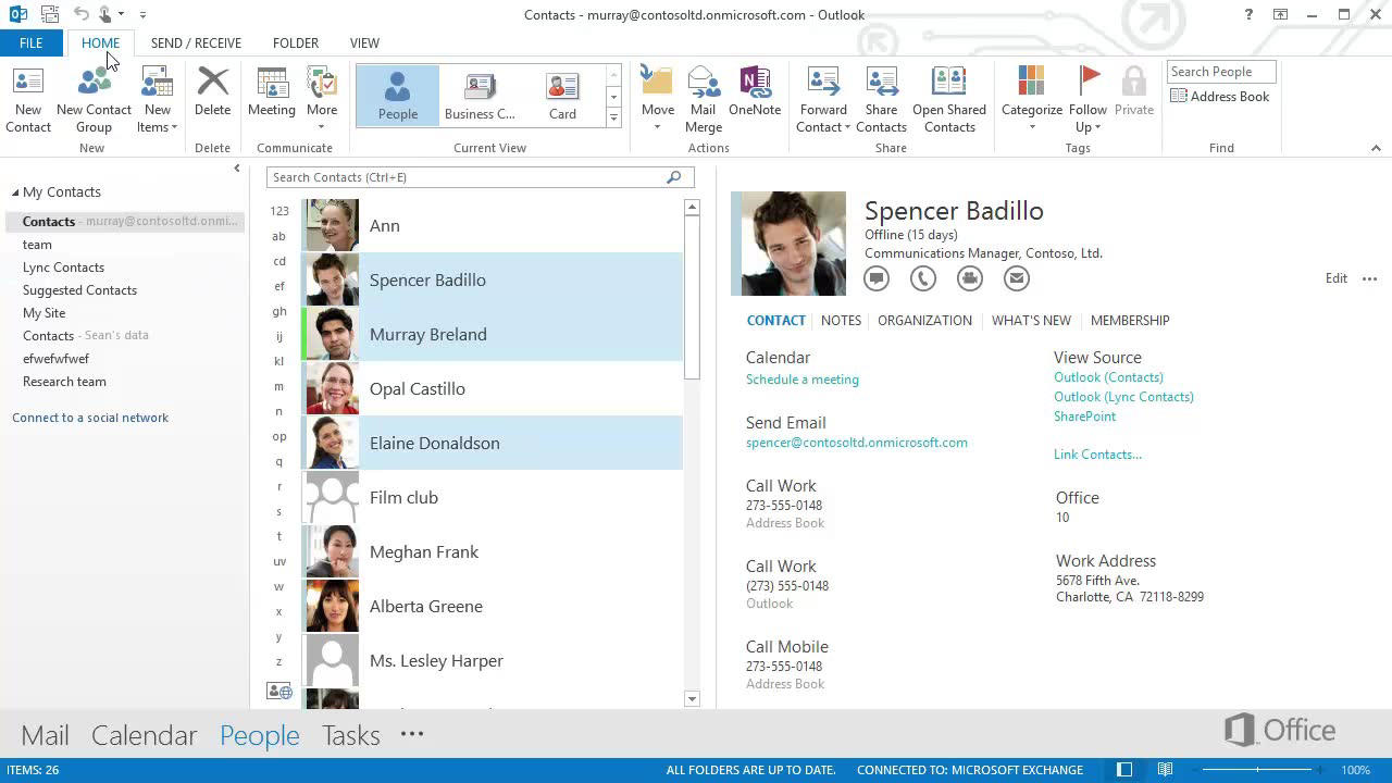 Video Export Contacts As Vcards Or Outlook Contacts Outlook
