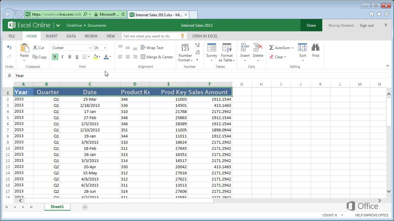 Video: Top tips for working in Excel Web App