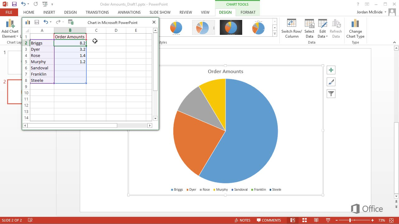 Insert Pie Chart In Excel