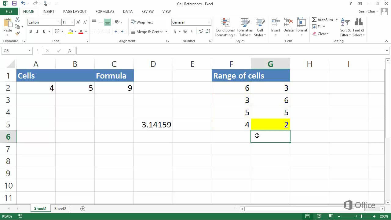 Video Understand And Use Cell References Excel