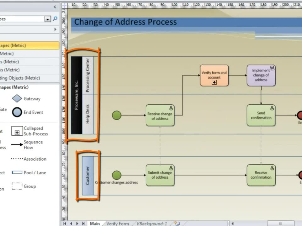 Bpmn diagram visio basic guide wiring diagram video bpmn diagramming basics office support rh support office com bpmn diagram visio 2010 visio bpmn diagram template ccuart Images