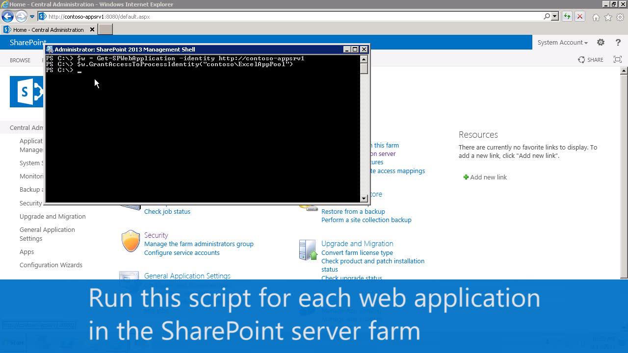 Configurar servicios de Excel (SharePoint Server 2013) | Microsoft Docs