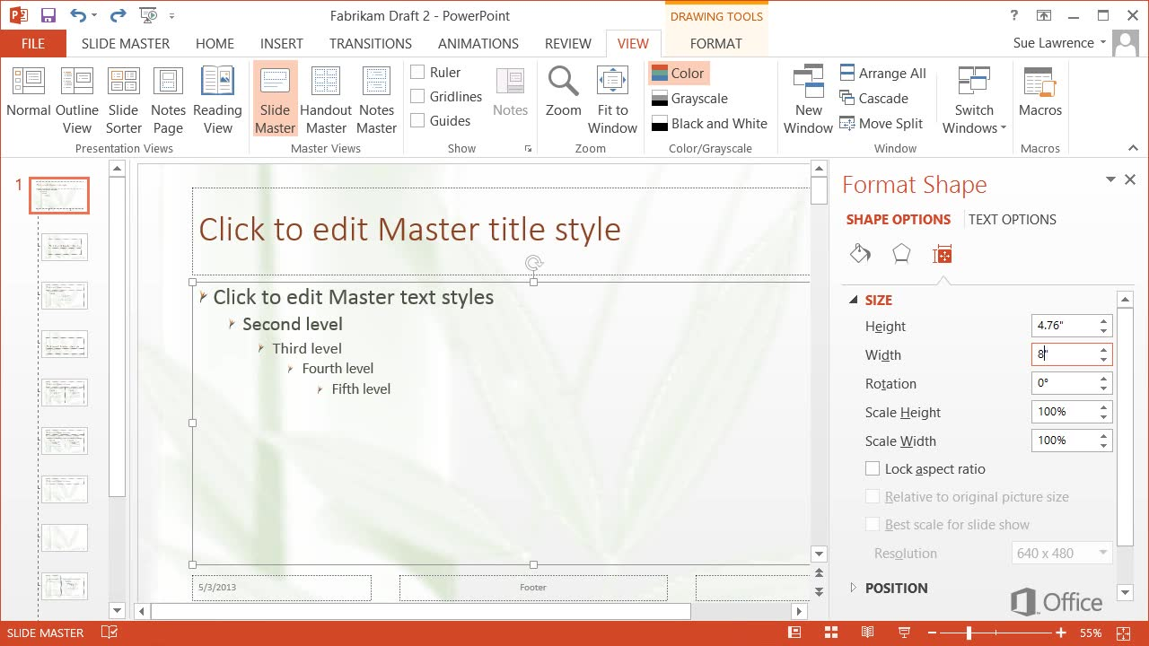 Video Customize The Slide Master Powerpoint
