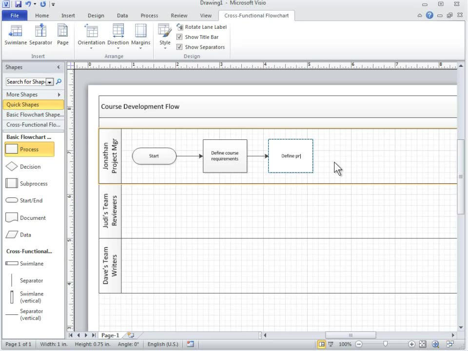 Cross functional flowchart basics visio ccuart Image collections