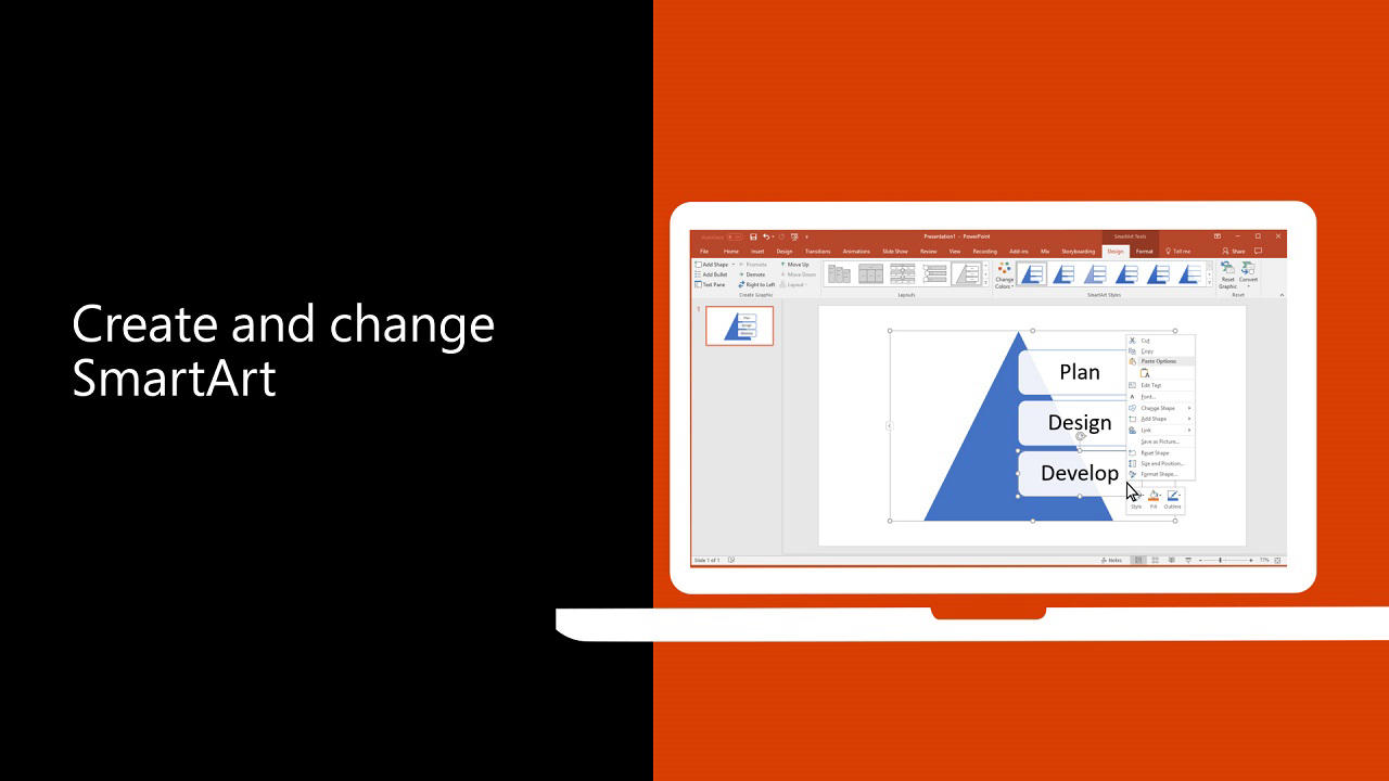 Video Create And Change Smartart Office Support