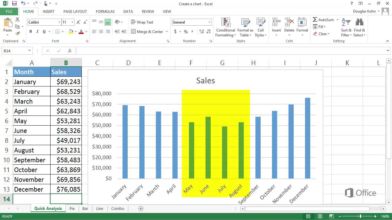 Video Create A Chart Excel