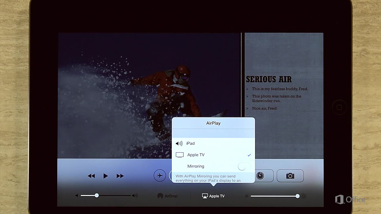 Video: Projecting your slideshow to a screen