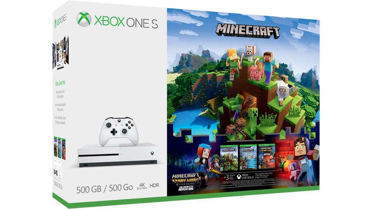 acheter ensemble xbox one s minecraft complete adventure de 500 go jeu gratuit microsoft. Black Bedroom Furniture Sets. Home Design Ideas