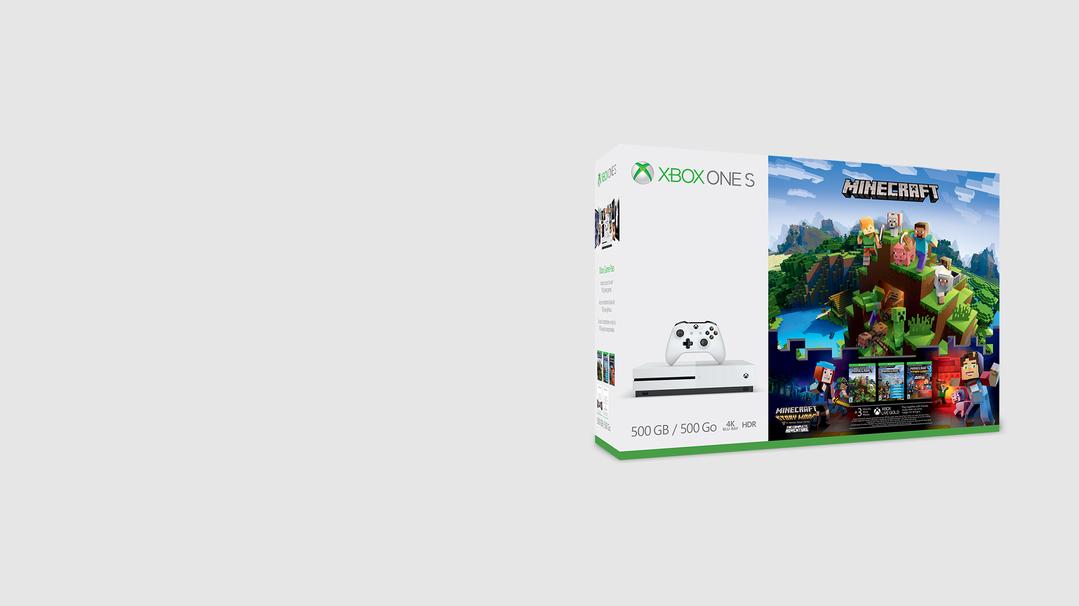 An Xbox One S Minecraft bundle