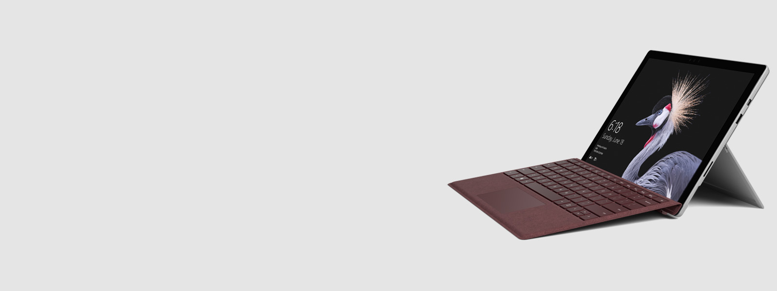 Surface Pro mit Type Cover in Bordeaux