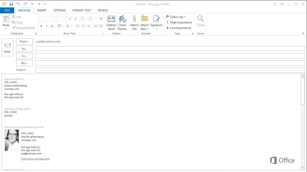 Video Using Email Signatures In Outlook Outlook