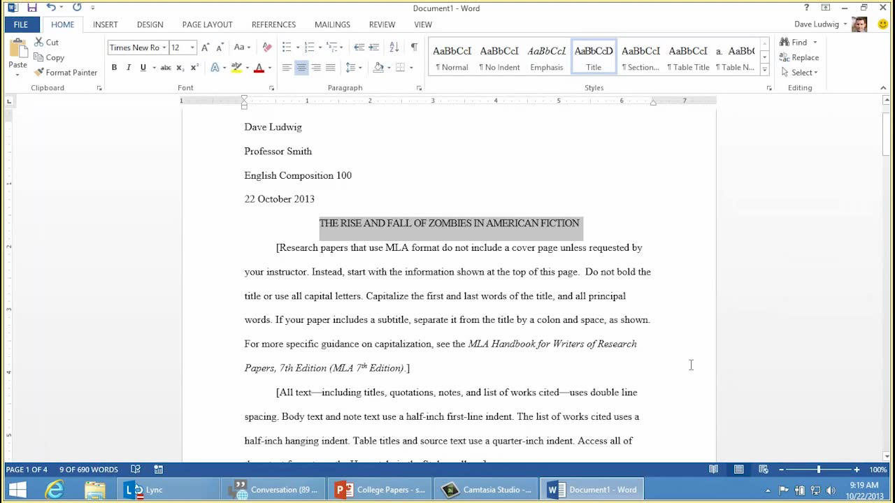 How To Write A Thesis For A Narrative Essay  How To Write A Research Essay Thesis also Business Plan Writers Cheap Video Creating An Mla Paper With Citations And A Bibliography  Word Thesis Statement For An Argumentative Essay