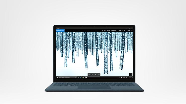Surface laptop, cobalt, front facing