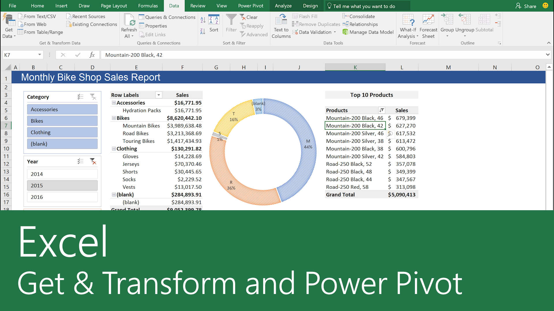 Get & Transform and Power Pivot in Excel - Excel