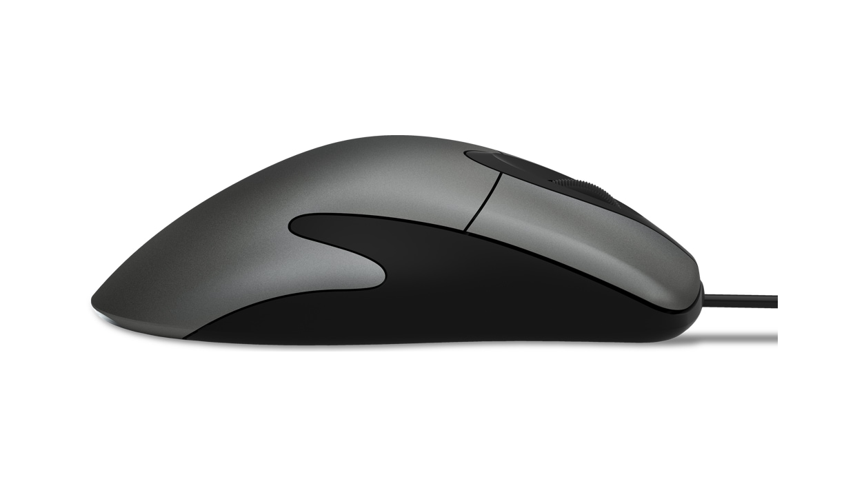 Side view of Microsoft Classic IntelliMouse.