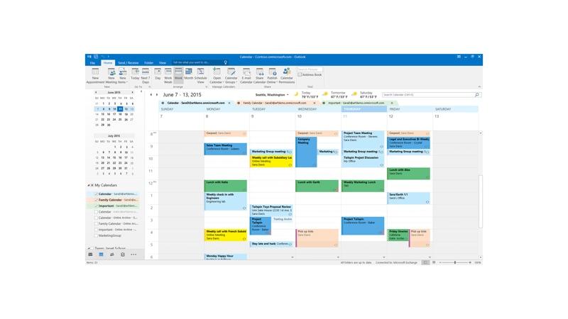 Calendar in Microsoft outlook