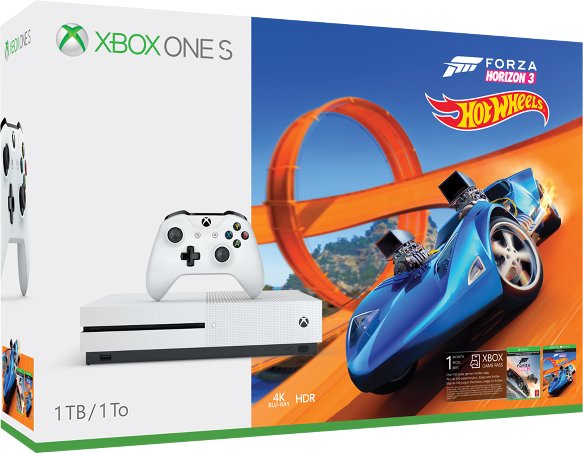 Pack Console Xbox One S 1 To - Forza Horizon 3 Hot Wheels