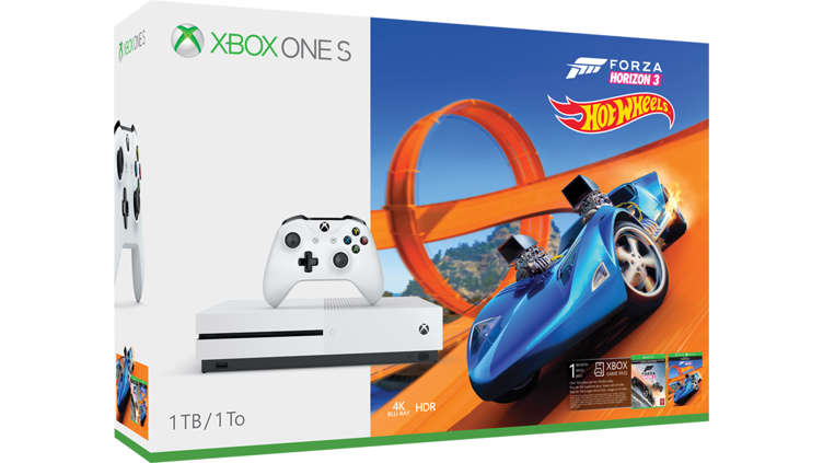 acheter pack xbox one s forza horizon 3 hot wheels 500 go microsoft store france. Black Bedroom Furniture Sets. Home Design Ideas