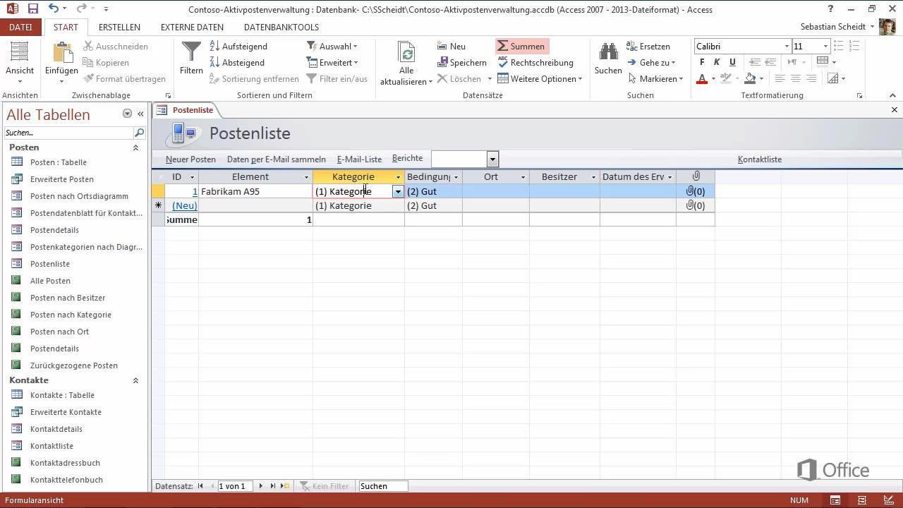 Video Erstellen Einer Desktopdatenbank Access