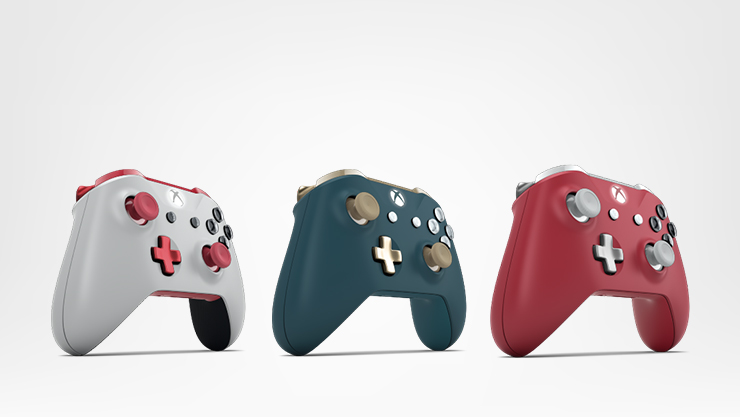 3 mandos Xbox Design Lab