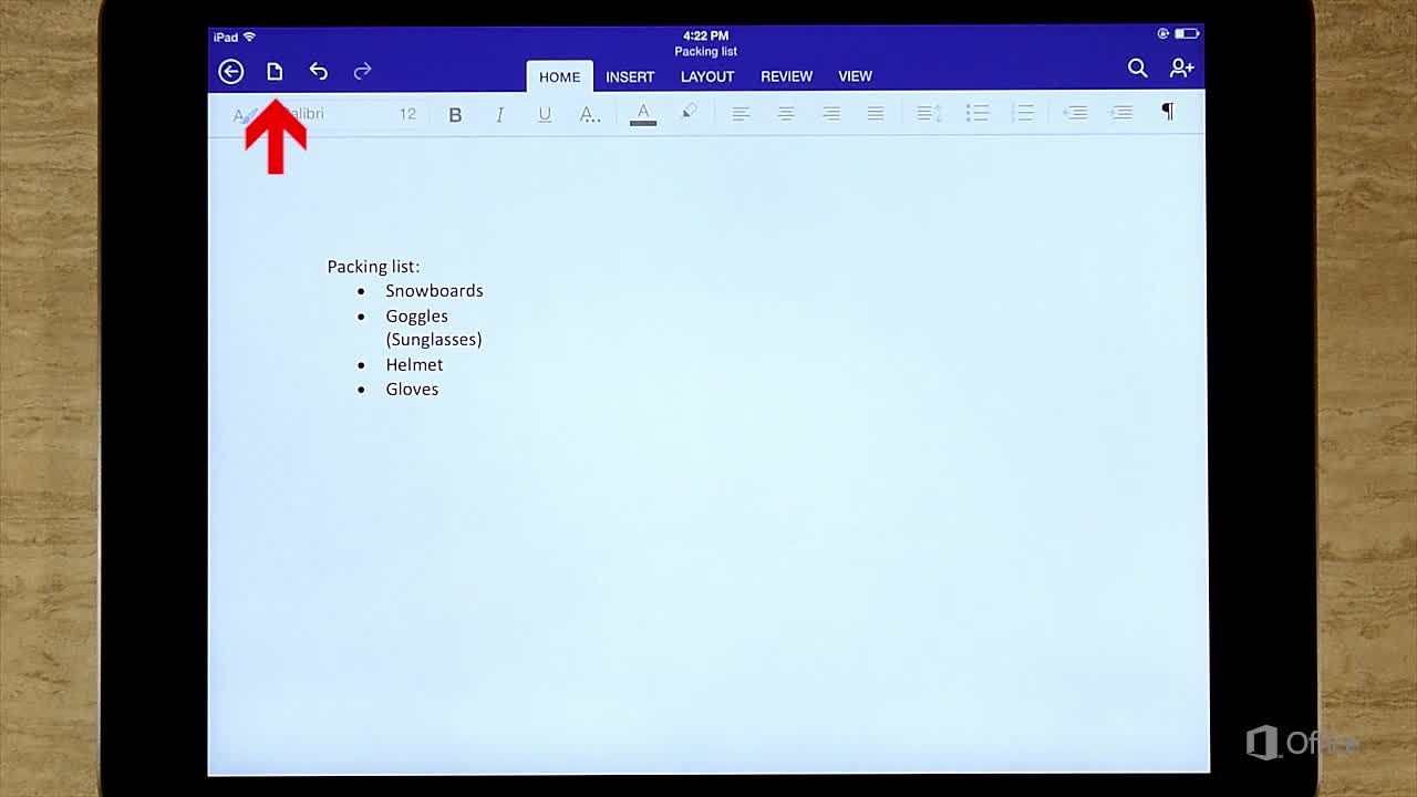 Video: How saving works in Word for iPad