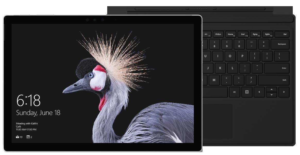 Surface Pro (5th Gen) + Black Type Cover Bundle