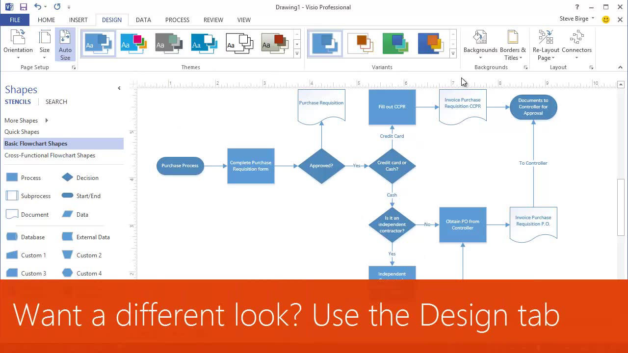Make a visio flowchart to visualize a process office support nvjuhfo Image collections