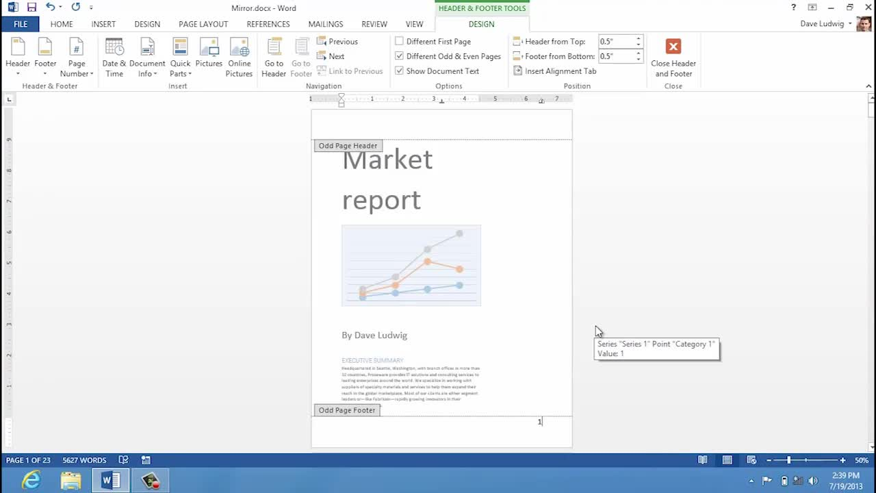 Video: Mirrored margins and page numbers