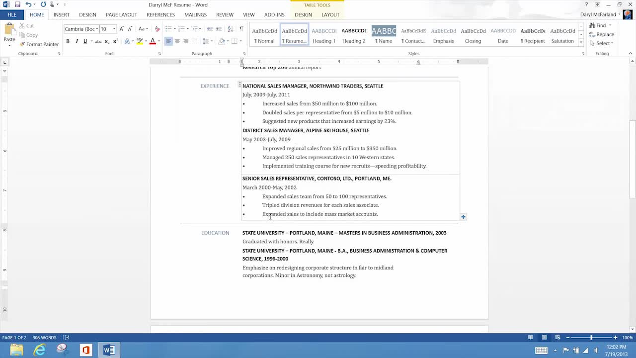 Video Tools For Better Resumes Word