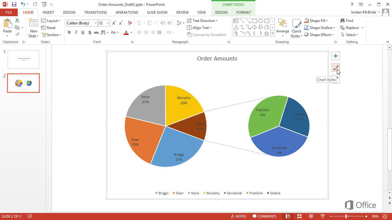 Customize A Pie Chart Office Support