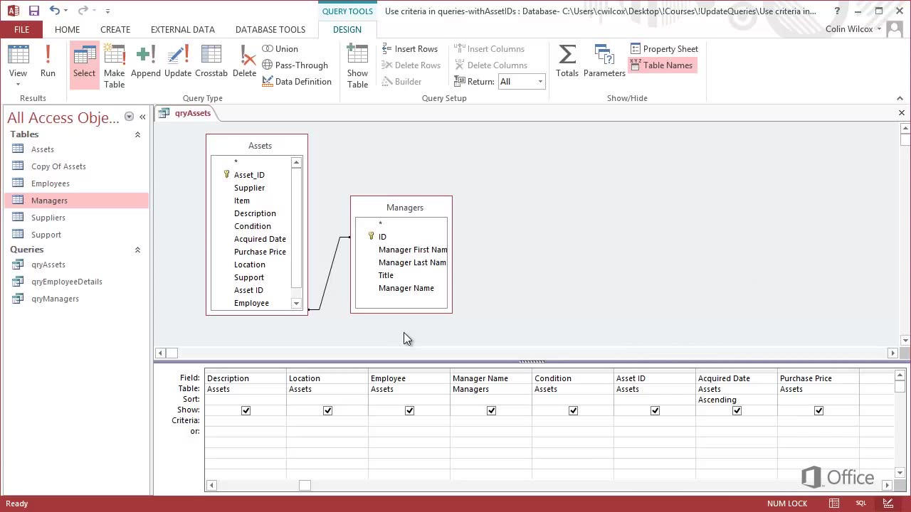 Use update queries to change data in access 2013 access gamestrikefo Images