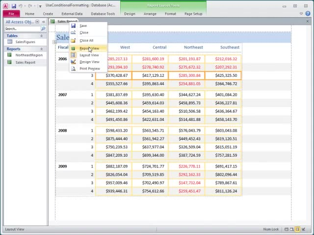 Video: Use conditional formatting on reports