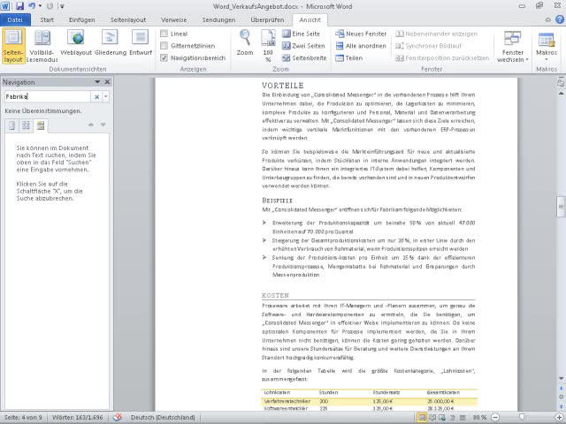Video: Verwenden der Navigationsleiste in Word 2010