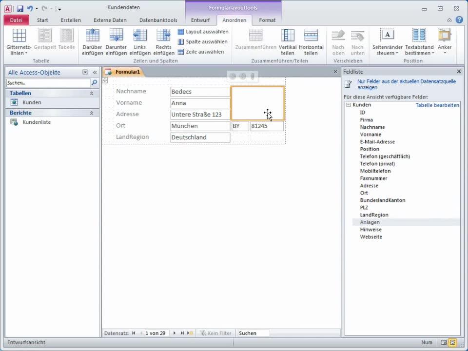 Video: Einführung in Formular- und Berichtslayouts - Access