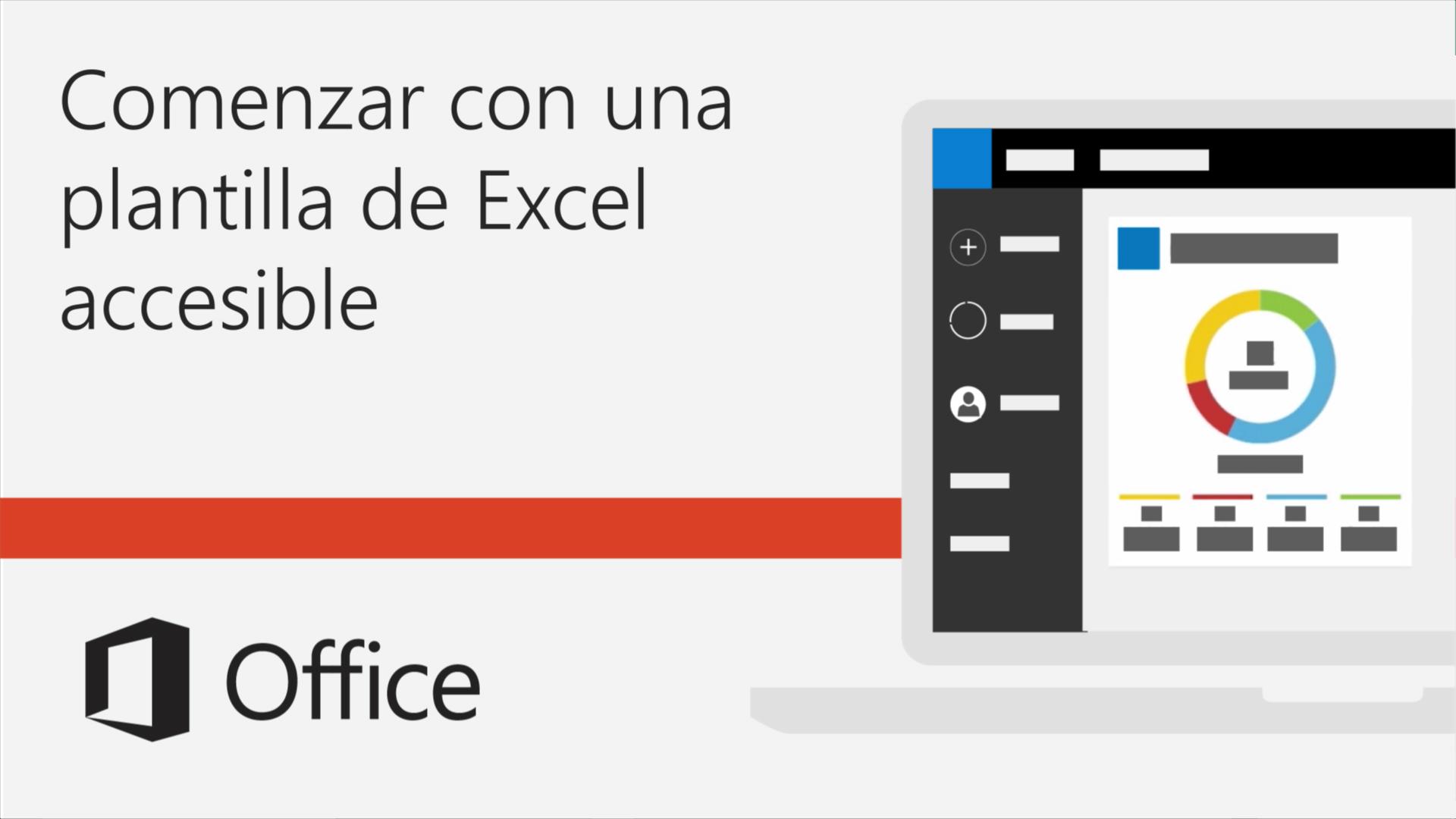 Vídeo: Empezar con una plantilla de Excel accesible - Soporte de Office